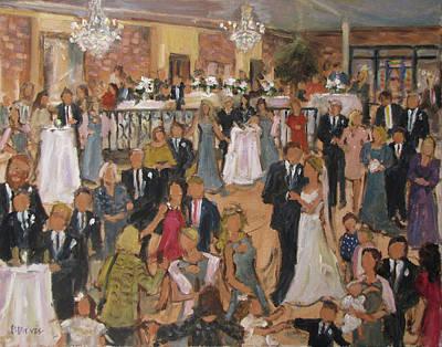 Hinson-brown Wedding Reception Art Print by Barbara Davis