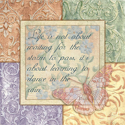 Scripture Painting - Hint Of Spring Butterfly 2 by Debbie DeWitt