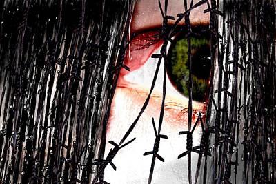 The View Mixed Media - Hinterm Eisernen Vorhang Behind The Iron Curtain by TinaDeFortunata