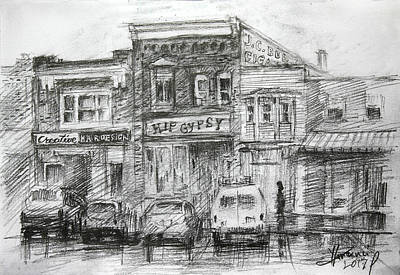 Landscapes Drawing - Hip Gypsy North Tonawanda by Ylli Haruni