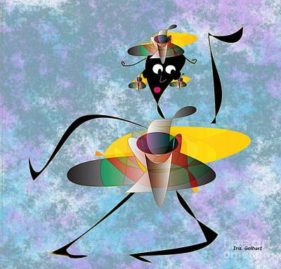 Digital Art - Hip Hop 3 by Iris Gelbart