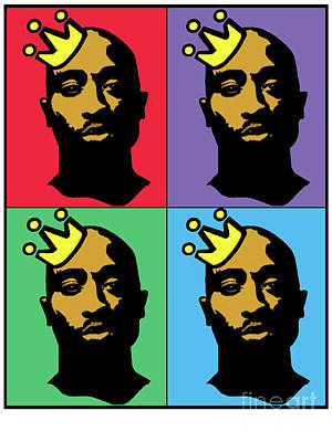 Hip Hop Icons Tupac Shakur Art Print by Stanley Slaughter Jr
