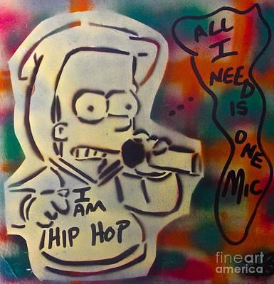 Liberal Painting - Hip Hop Rasta Bart by Tony B Conscious