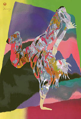 Hip Drawing - Hip Hop Street Art Dancing Poster - 2 by Kim Wang