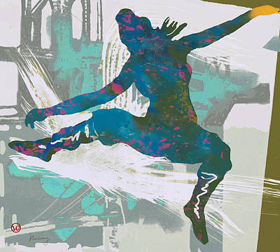 Hip Drawing - Hip Hop Street Dancing  Pop Art Poster - 1 by Kim Wang