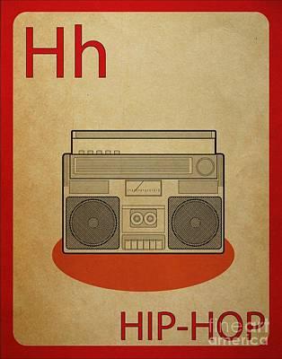 Hip Hop Vintage Flashcard Art Print by Mynameisjz JZ