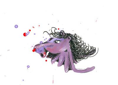 Hippopotamus Mixed Media - Hip-horse by Leiana Henson