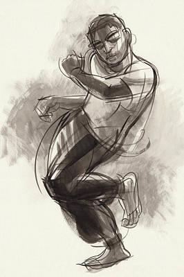 Painting - Hiphop Dancer 2 by Judith Kunzle