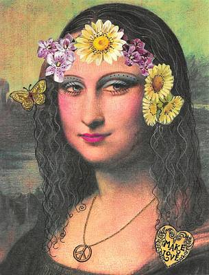 Bello Mixed Media - Hippie Gioconda by Graciela Bello