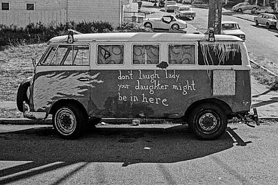 Photograph - Hippie Van, San Francisco 1970's by Frank DiMarco