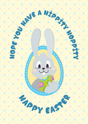 Digital Art - Hippity Hoppity Easter by JH Designs