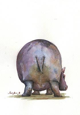 Hippo Wall Art - Painting - Hippo Back by Juan Bosco
