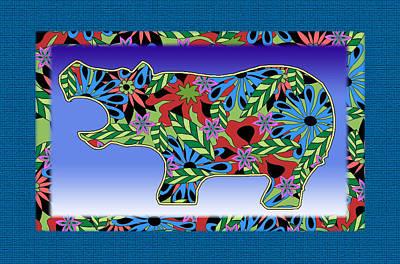 Hippopotamus Mixed Media - Hippo Groove by Bennett Berkowitz