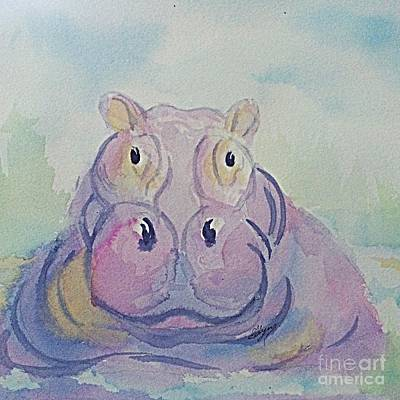 Painting - Hippo Square Format by Ellen Levinson