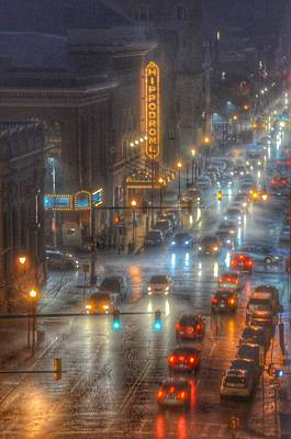 Traffic Sign Photograph - Hippodrome Theatre - Baltimore by Marianna Mills