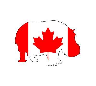 Hippopotamus Digital Art - Hippopotamus Canada by Steph J Marten