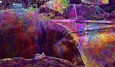 Hippopotamus Digital Art - Hippopotamus Hippopotamus Amphibius  by PixBreak Art