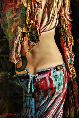 Hippy Back Art Print by Blake Richards