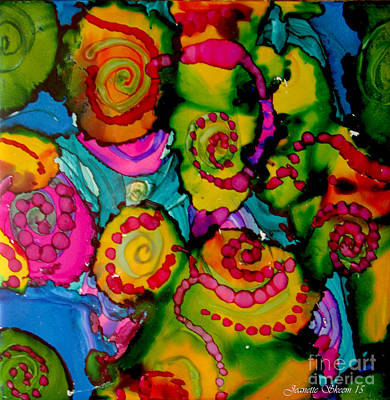 Painting - Hippy Style Patterns  by Jeanette Skeem