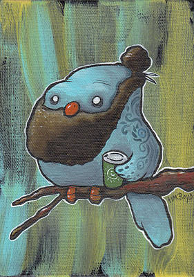 Painting - Hipster On A Branch by Tim Boyd