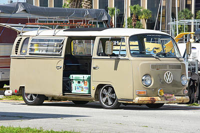 Photograph - Hipster Vw Bus by William Tasker