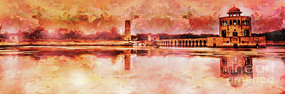 Painting - Hiran Minar 01 by Gull G