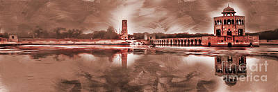 Painting - Hiran Minar Punjab Pakistan by Gull G