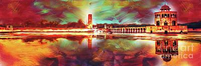 Painting - Hiran Minar Sheikhupura by Gull G