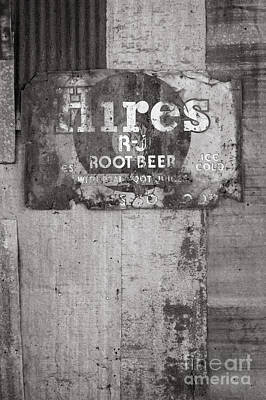 Photograph - Hires Root Beer In Black And White by Sean Wray