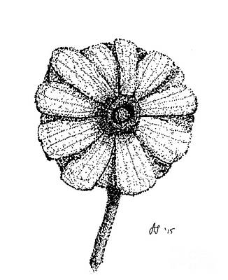 Hiroko's Daisy II Art Print by Dale Arends