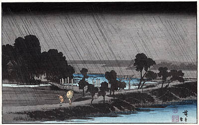 Photograph - Hiroshige Travelers, C1830 by Granger