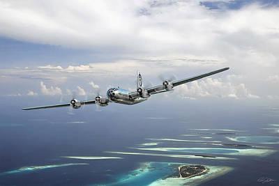 B-29 Digital Art - Hiroshima Mission by Peter Chilelli