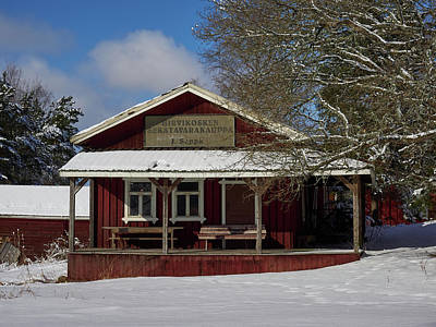 Photograph - Hirvikoski General Store By The Church Of St Mary In Sastamala by Jouko Lehto