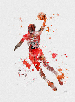 Athletes Mixed Media - His Airness by Rebecca Jenkins