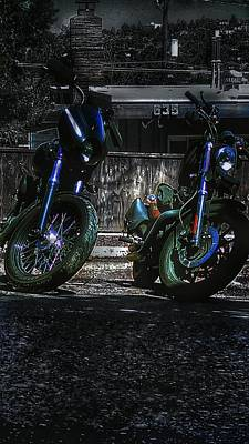 Photograph - His And Hers Motorcycle by Eddie G