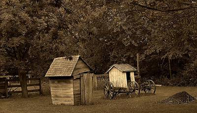 Antique Outhouse Photograph - His And Hers by Scott Hovind