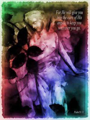 His Angels 2 Art Print