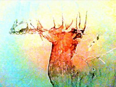 Jenna Thomas Wall Art - Digital Art - His Bugle by Jennifer Thomas