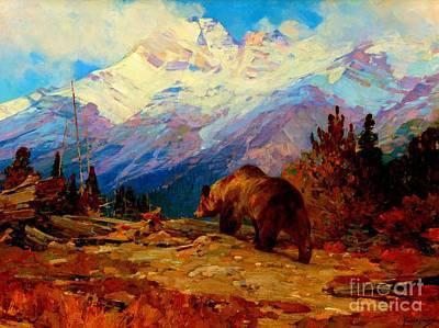 Carl Rungius Painting - His Domain 1916 by Peter Gumaer Ogden
