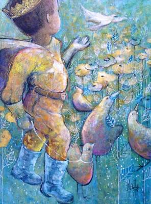 Art Print featuring the painting His Dream by Eleatta Diver