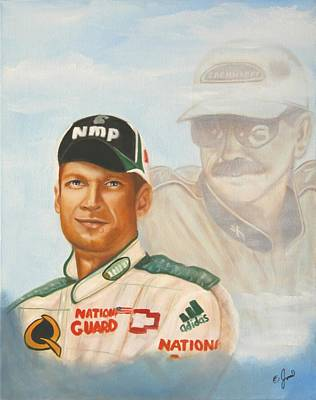 Nascar Painting - His Father's Son by Joni McPherson