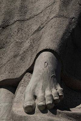 Photograph - His Foot And Wound by Hany J