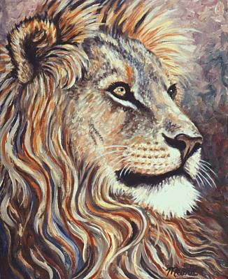 Bravery Painting - His Impressive Mane by Linda Mears