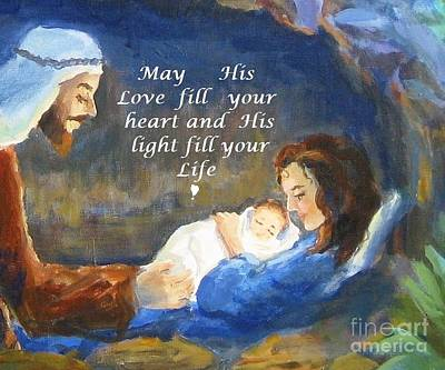 His Love And Light Print by Maria Hunt