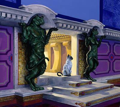 Atlantis Painting - His Majesty by Richard Hescox