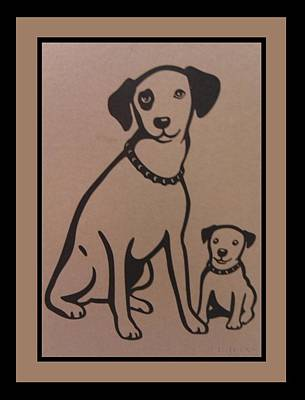 Terrier Digital Art - His Masters Voice - Nipper And Chipper by Rob Hans