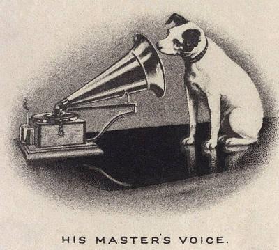 His Masters Voice, Originally Art Print by Everett
