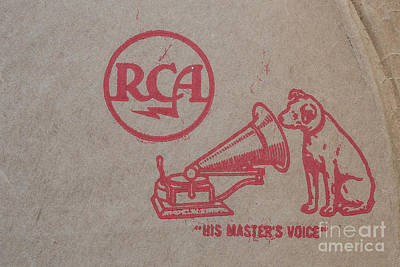 Print featuring the photograph His Masters Voice Rca by Edward Fielding