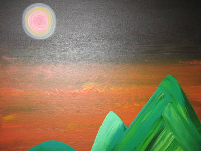 Rocca Painting - His Mountain by Sarah England-Rocca