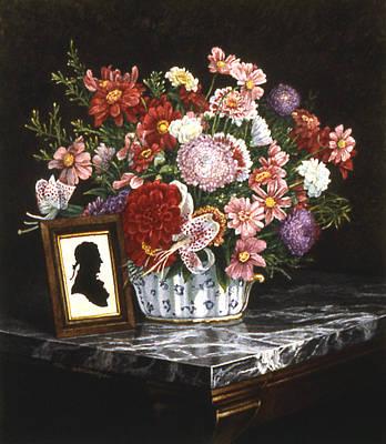 Marble Top Table Painting - His Portrait by Tom Wooldridge